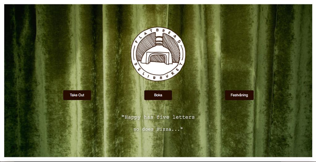 Webbsida för Restaurang
