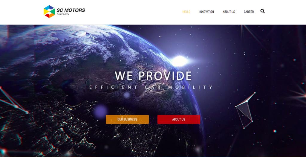 Webbplats för General Agent inom bilbranschen