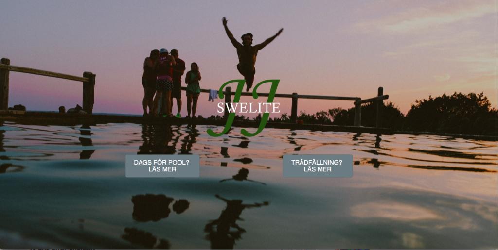 Webbsida för Poolbyggare